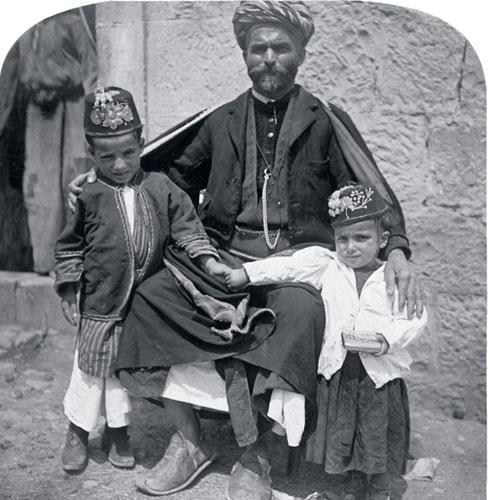 keystone view company, father and children, ramallah, courtesy dan kyram