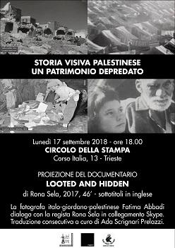 storia visiva palestinese, 17/9/2018