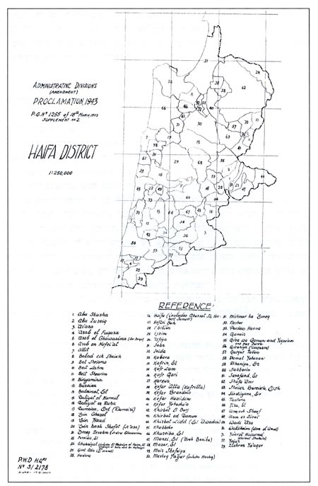 Haifa, map, 1943