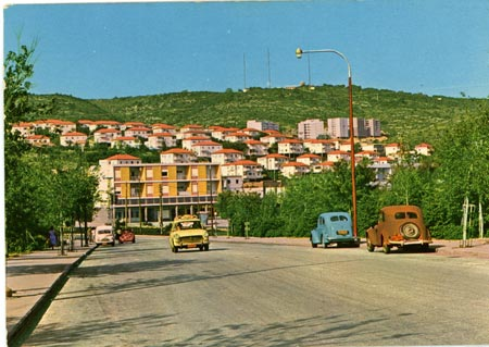 Haifa, new Jewish neighbourhood, 1950s, postcard�