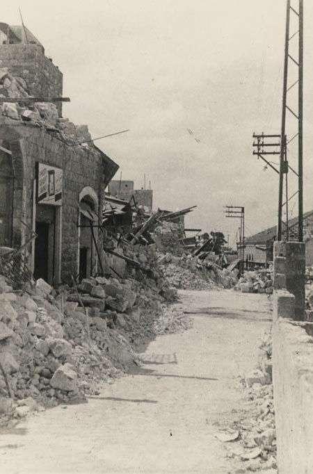 The destruction of the old city in Haifa, 1948�