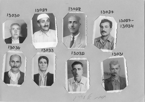 unknown photographers, ''pictures of arabs'', approx. 1949-1950, hagana archive, the photographs were originally in the files of the information service, which apparently dealt with palestinians desiring repatriation to their homes and lands in israel after the 1948 war, ''infiltrators'' according to israeli terminology. the contents of the files were reorganized by the archive in the 1990s. the structure and extent of the original files is not known