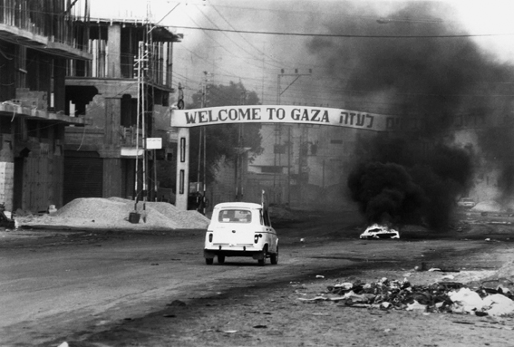 anat saragusti, ''welcome to gaza'', beginning of the first intifada, december 1987�