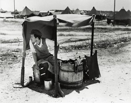 david harris,  transit camp , 1951, courtesy the harris family
