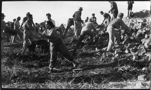 avraham malavsky, settling day – joint effort, kfar- rupin, 1938, jnf