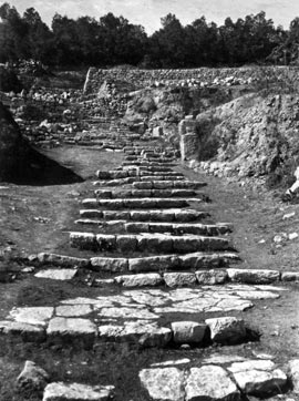 chalil raad, ancient hebrew steps about 2000 years old, kidron excavations