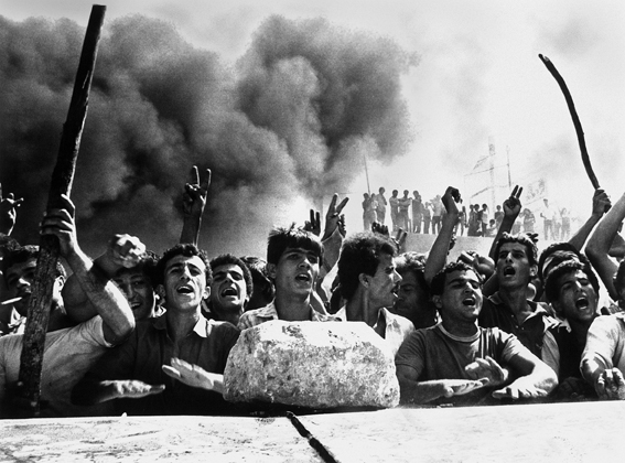 anat saragusti, umm al-fahm, demonstration protesting the visit of knesset member meir kahana