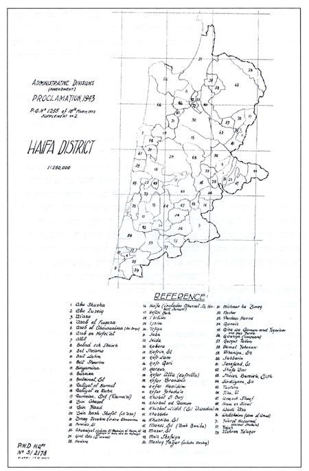 מפת חיפה, 1943