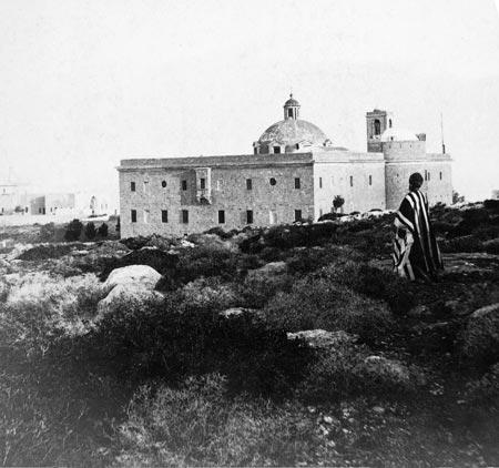 המנזר הכרמליטי, הר כרמל, חיפה, 1900 בקירוב